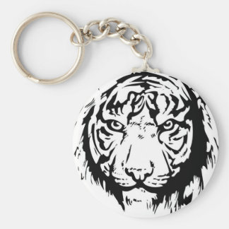 tiger basic round button key ring