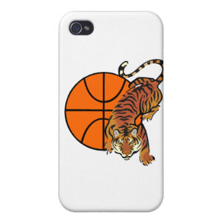 Tiger Basketball and Gifts iPhone 4 Cases