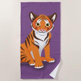 Tiger Beach Towel