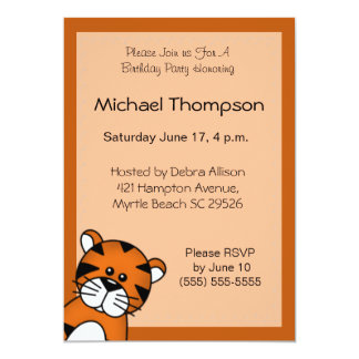Tiger Birthday Invitation