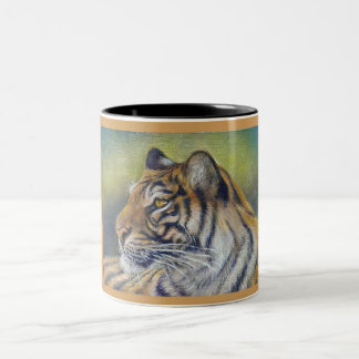 Tiger Black 11 oz Two-Tone Mug