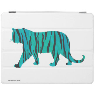 Tiger Black and Teal Silhouettes iPad Cover