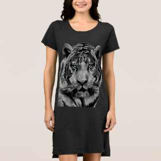 Tiger Black and White Blue eyes Dress