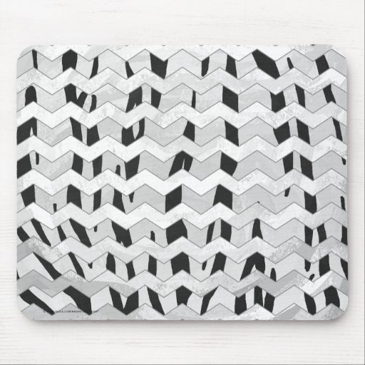 Tiger Black and White Print Mousepads