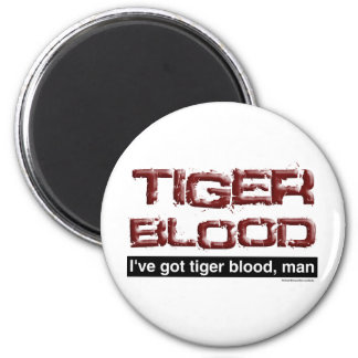 Tiger Blood 6 Cm Round Magnet