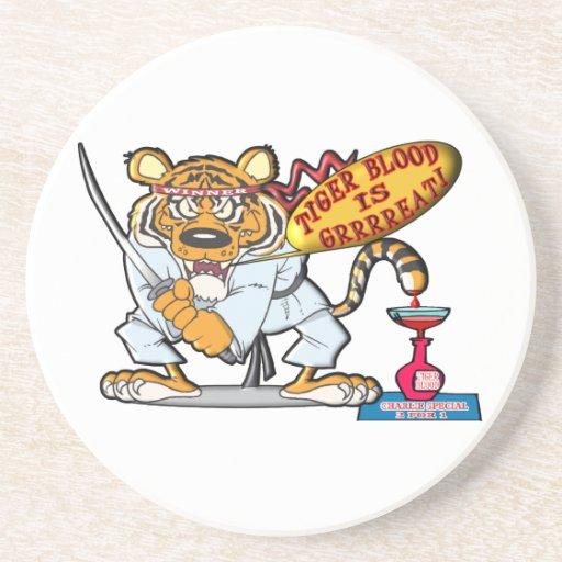 Tiger Blood Is Grrrreat Drink Coasters