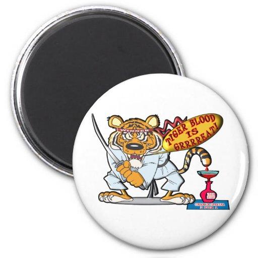 Tiger Blood Is Grrrreat Refrigerator Magnets