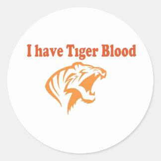 Tiger Blood Round Sticker