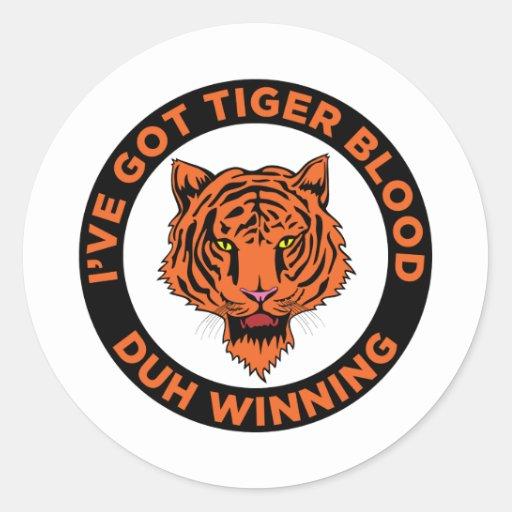Tiger Blood Sticker