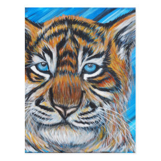 Tiger Blue Postcard