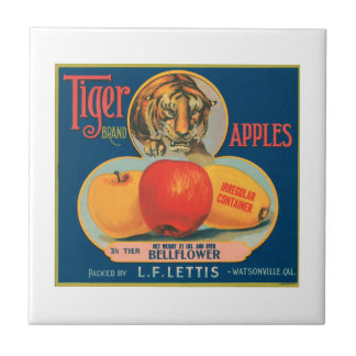 Tiger Brand Apples VIntage Crate Label Ceramic Tiles
