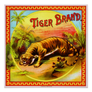 Tiger Brand Vintage Advert Poster