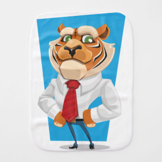 tiger burp cloth