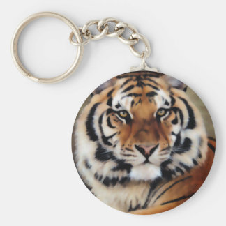 Tiger by Psyco Basic Round Button Key Ring