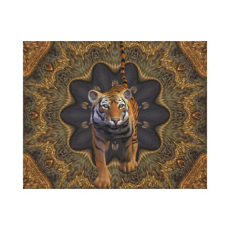 Tiger By The Tail. Gallery Wrapped Canvas