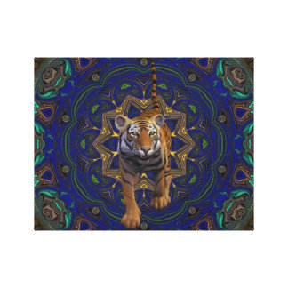 Tiger By The Tail. Stretched Canvas Prints