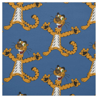 Tiger cartoon fabric