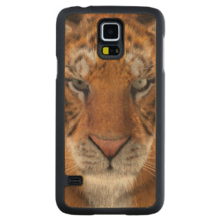 Tiger Carved Maple Galaxy S5 Case