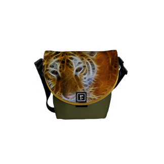 Tiger Cat Animal Stripes Pattern Destiny's Destiny Commuter Bag