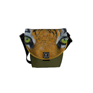 Tiger Cat Animal Stripes Pattern Destiny's Destiny Courier Bags