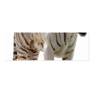 Tiger cat stripes personalize diy Anniversaries Pack Of Skinny Business Cards