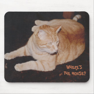 Tiger Cat Waiting for Mouse Mousepad