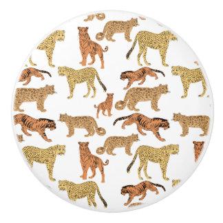 Tiger, Cheetah and Leopard Ceramic Knob