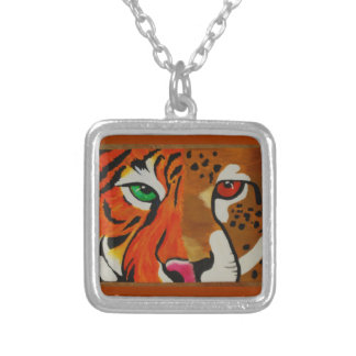 Tiger/Cheetah Painted Necklace