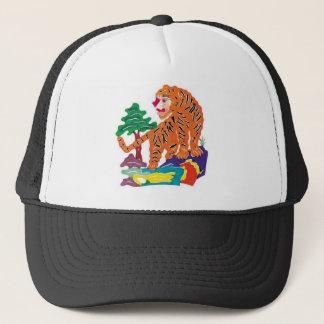 Tiger Chinese Paper-cut Art Work Trucker Hat