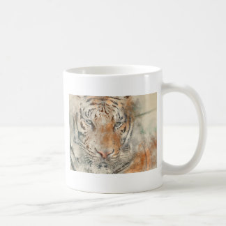 Tiger Close Up in Watercolor Coffee Mug