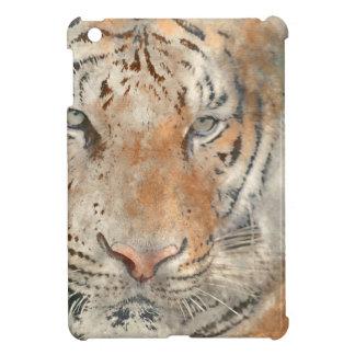 Tiger Close Up in Watercolor iPad Mini Cases