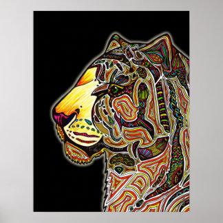 Tiger Color Poster