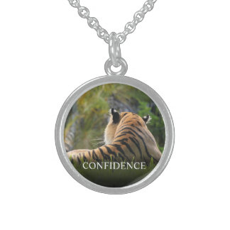 Tiger Confidence Quote Personalized Sterling Silver Necklace