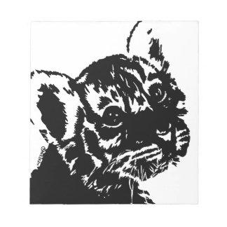 Tiger Cub Looks Back Notepad