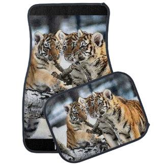 Tiger Cubs At Play Car Mat