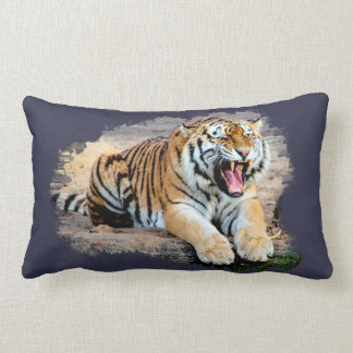 Tiger cushion out of polyester 33 cm X 53 cm