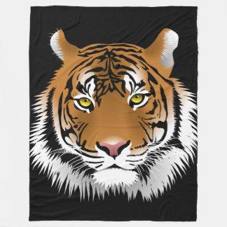 Tiger Custom Fleece Blanket, Large