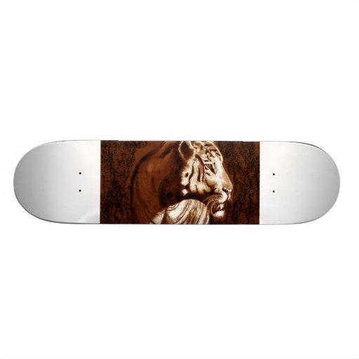 tiger dark and light skate board