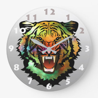 TIGER DESIGN (WITH NUMBERS) CLOCKS