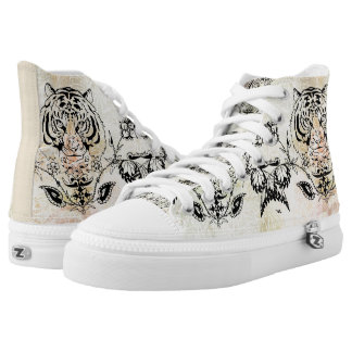 Tiger Designs Zipz High Tops Shoes