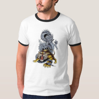 Tiger & Dragon Fight T-Shirt