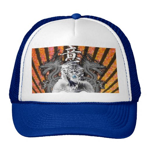 Tiger & Dragons Rising Sun Baseball Hat Customized