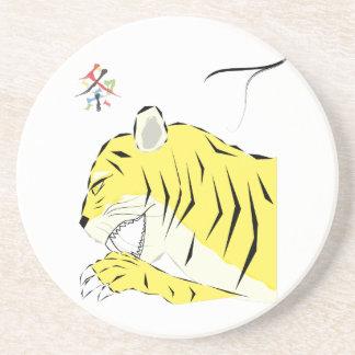 tiger drink coasters