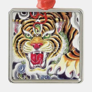 Tiger Eye Metal Ornament