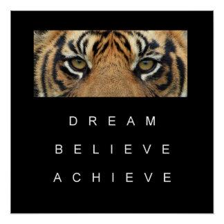tiger eyes achievement motivational quote