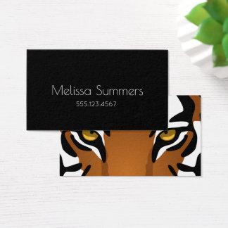 Tiger Eyes - Bold Black Minimalist Personal Business Card