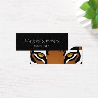 Tiger Eyes - Bold Black Minimalist Personal Mini Business Card