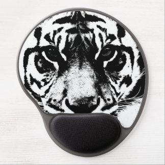 Tiger Eyes Look Black White Pop Art Gel Mouse Pad