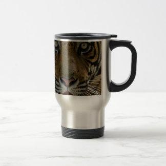 Tiger Face Close Up Travel Mug