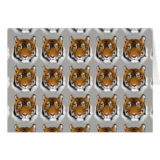 Tiger face greetings card